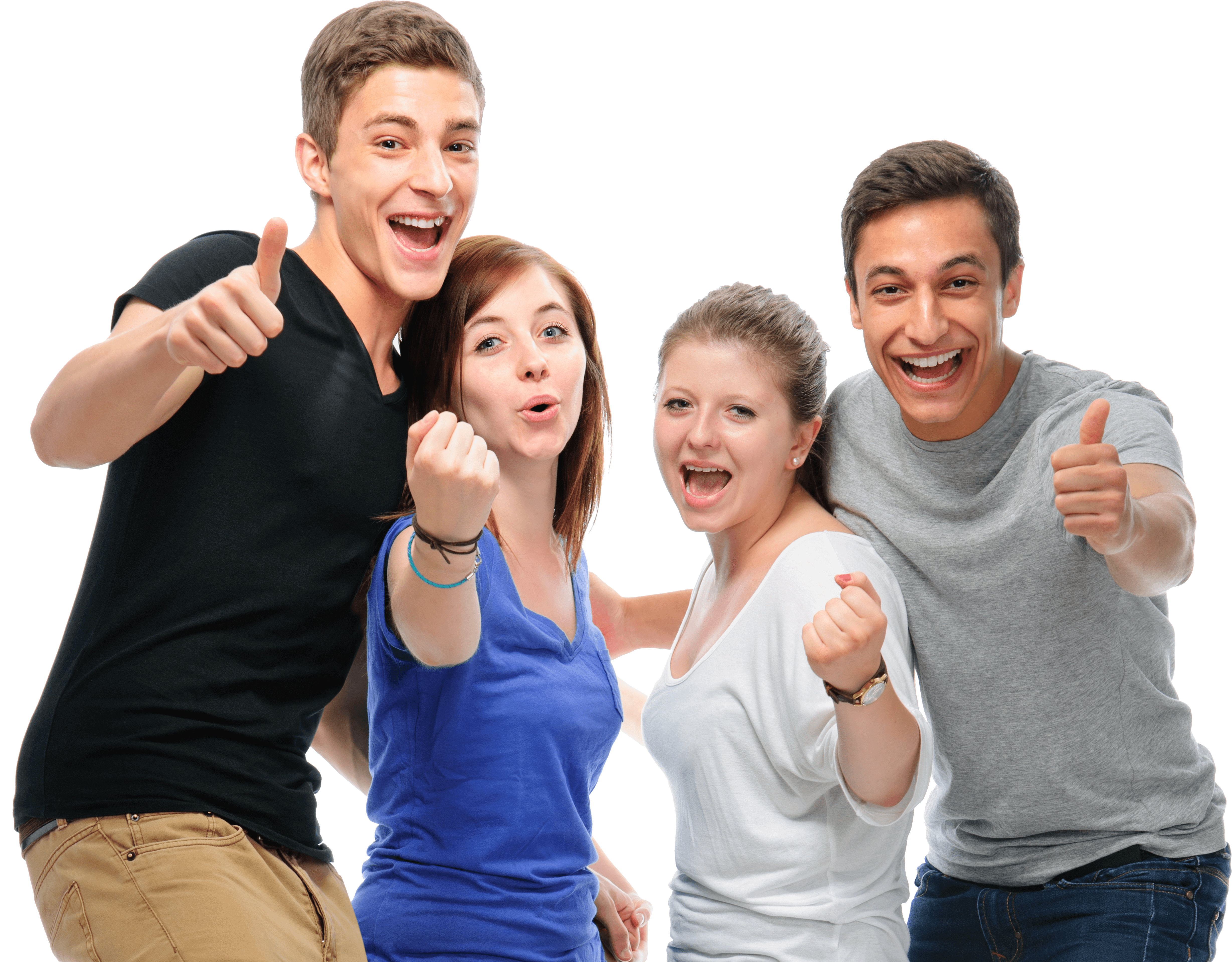 הכוח המניע - group-of-happy-students