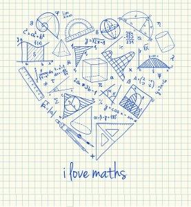 תואר ריאלי? זה בא בחשבון! - maths-doodles-in-heart-shape