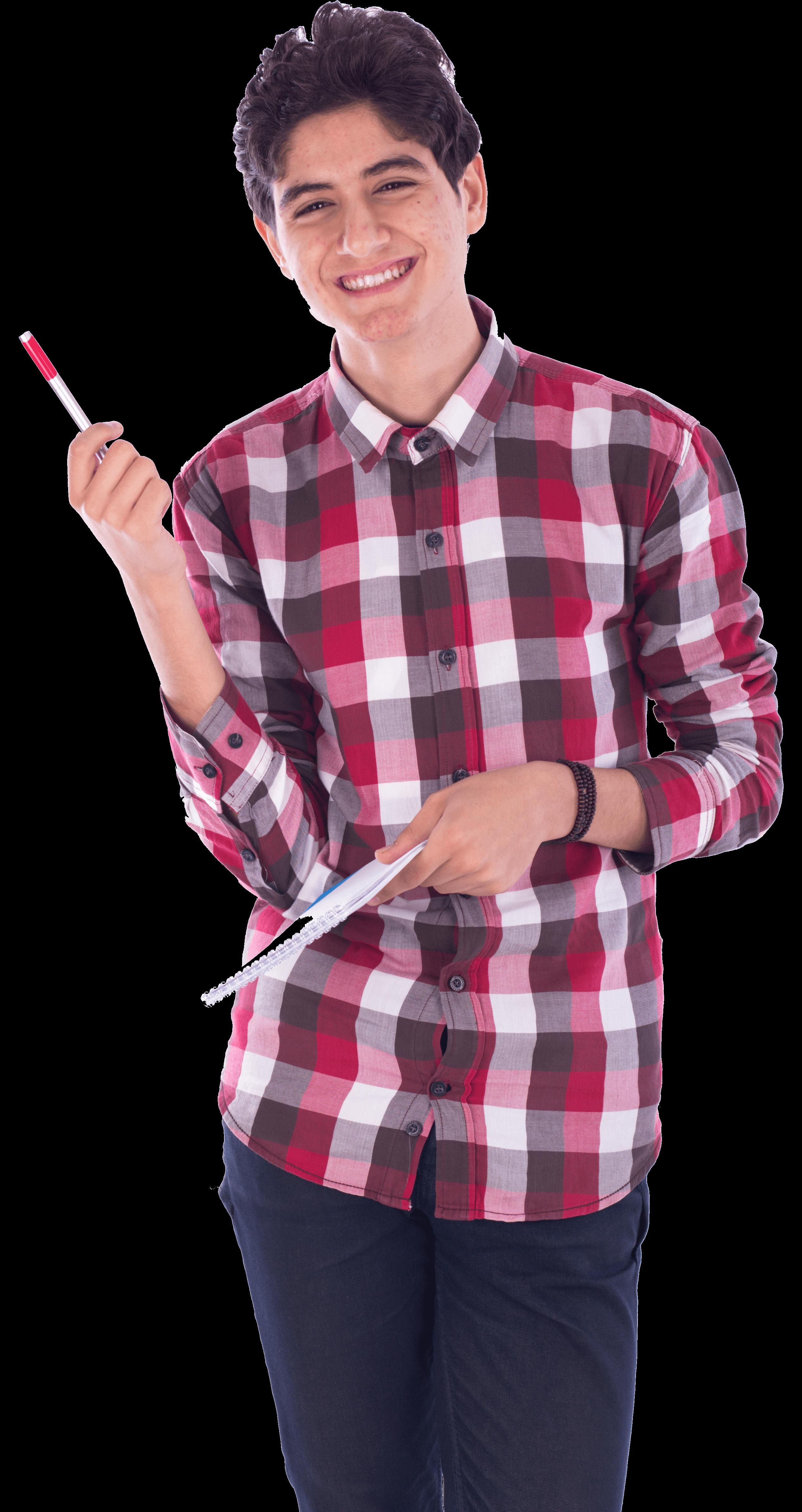 הכל בראש -student-holding-notebook-and-pen
