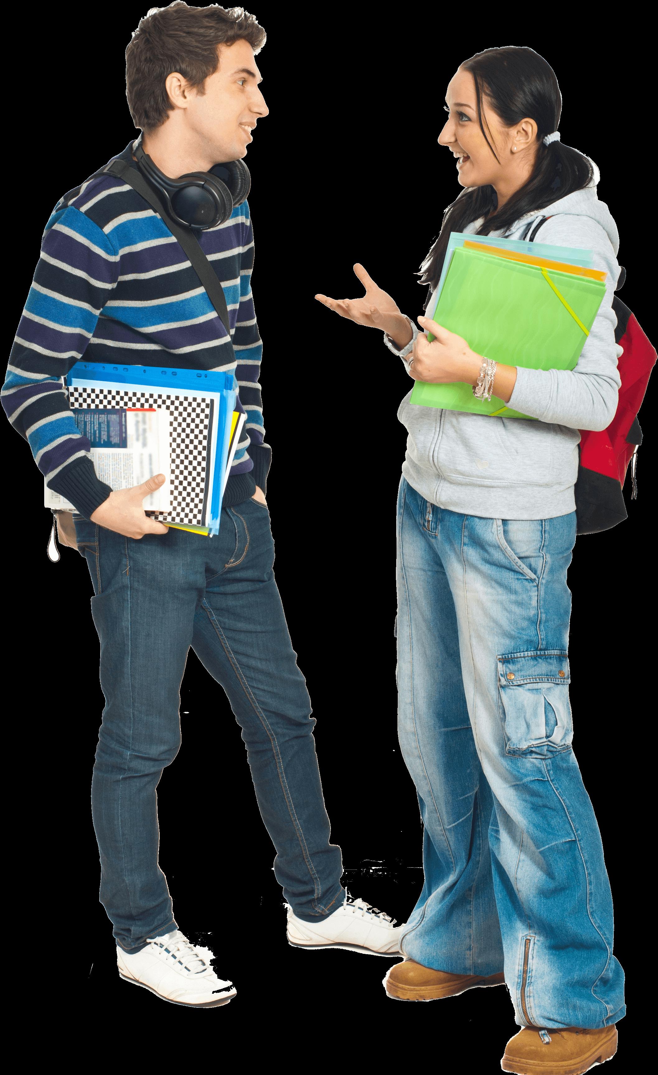דיאלוג פתוח לקידום למידה ועבודה משותפת - זוג תלמידים משוחחים