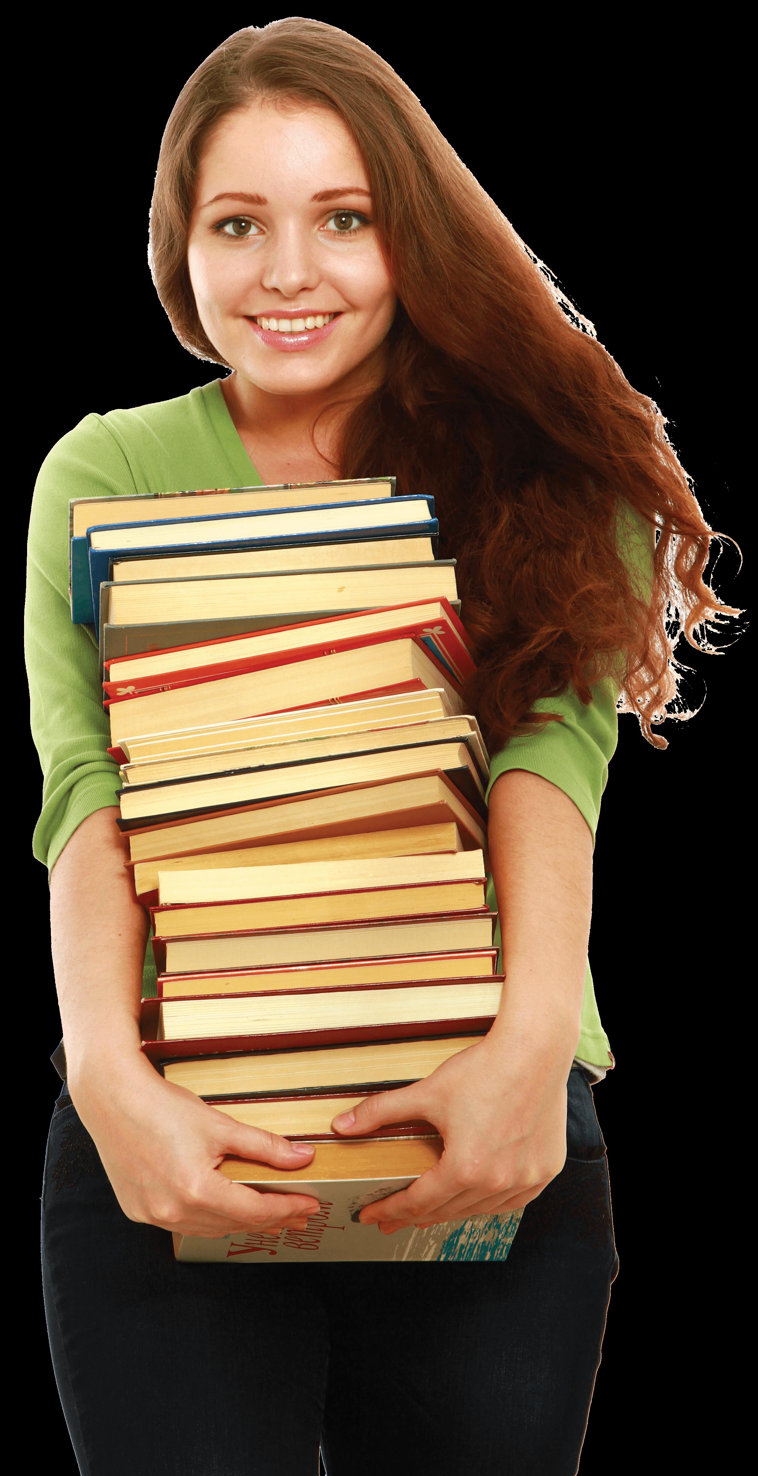 מרוב מילים לא רואים את החומר - smiling-woman-holding-books